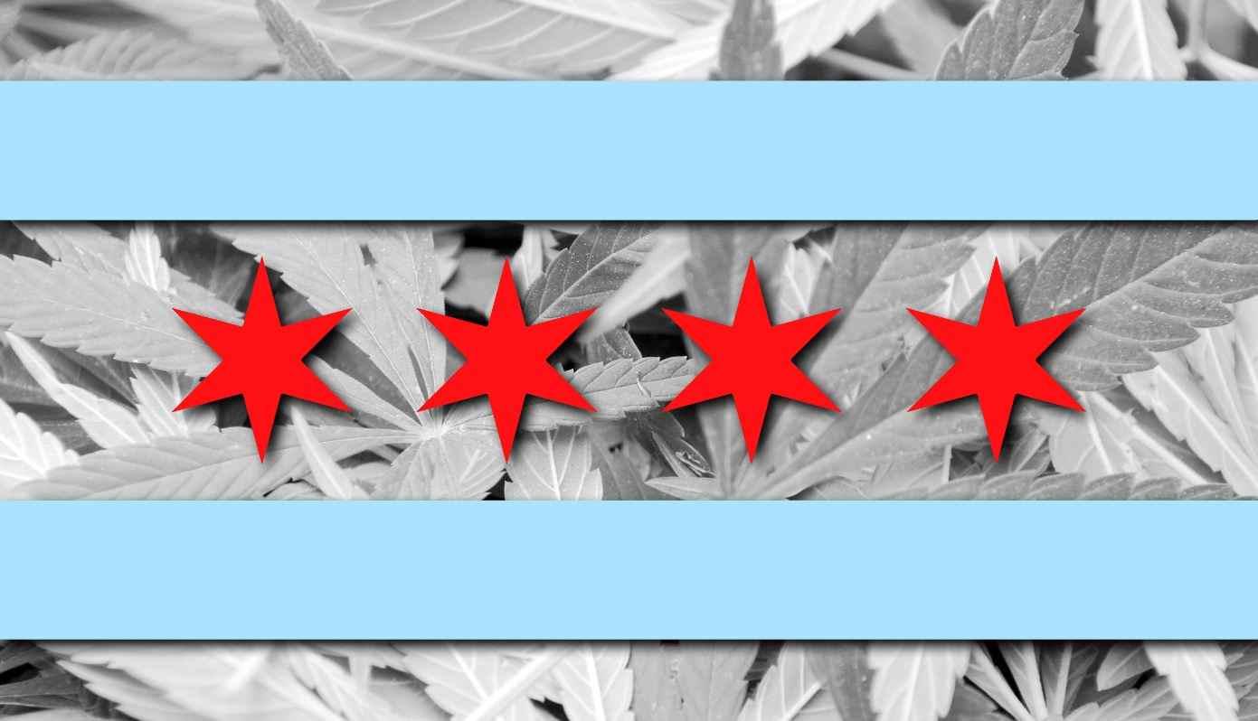 4 star Chicago city Flag